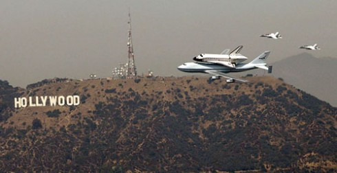 Space shuttle Endeavour: Hollywood sign