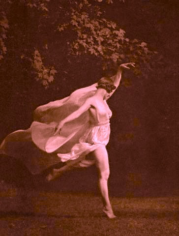 This is Anna Duncan, one of Isadora Duncan's adopted daughters. (1926) by Arnold Genthe.