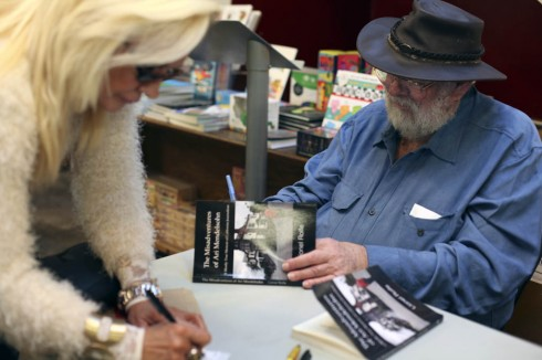 "Scenes from Lionel's signing and reading last night at Skylight Books of ""The Misadventures of Ari Mendelsohn: A Mostly True Memoir of California Journalism."" Photog Susan McRae took these pictures. There's also a picture of Lionel's daughter Hyla."