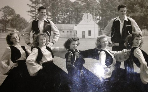 1947-48 High School Cheerleaders