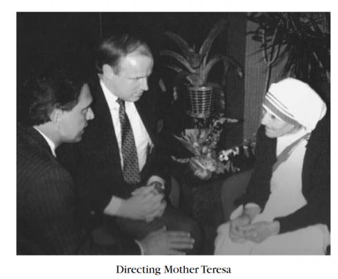 Tony Verna with Mother Teresa