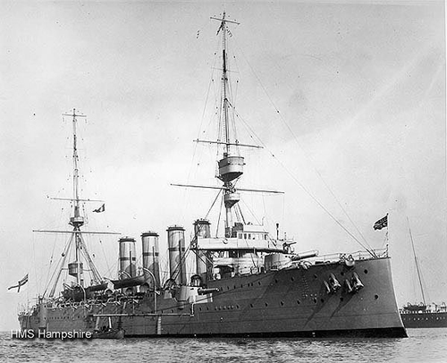 The HMS Hampshire