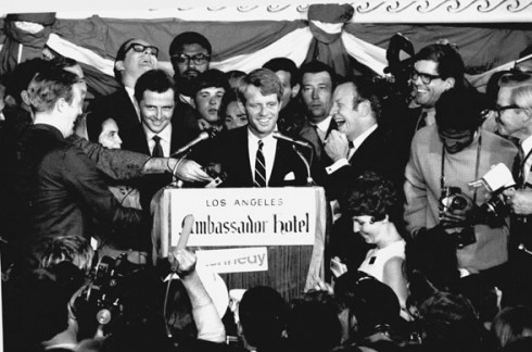 Bobby Kennedy election Victory