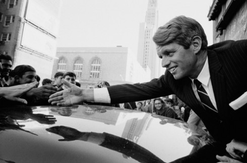 Senator Robert Kennedy Campaigning for President