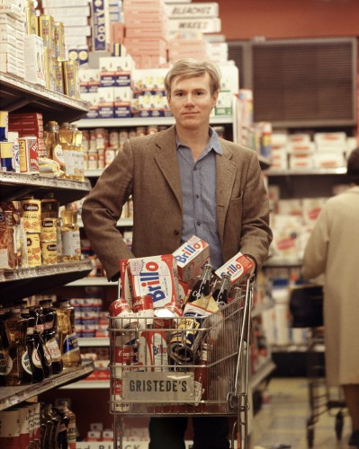 Andy Warhol at Gristede's Market. New York City, 1965.