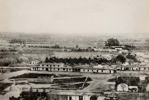L.A. Plaza in the 1860s. Courtesy Braun Research Library Collection, Autry National Center