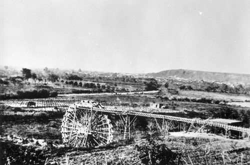 The Water Wheel is about 1860 at the entrance of what is now Solano Canyon