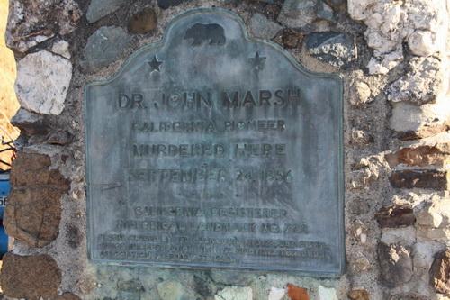 Marsh murder site stone