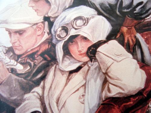 1912 driving costume.