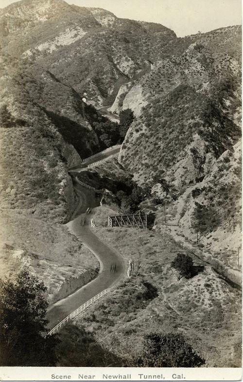 Postcard: Newhall Grade, 1920.