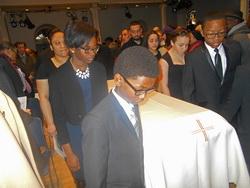 Stewart's casket