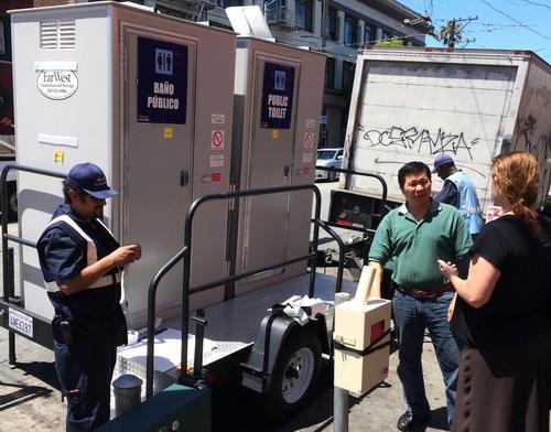San Francisco Pit Stop portable toilets.