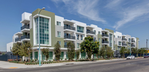 Mija Town Homes, 4501 S. Figueroa, Los Angeles 90037. One of the all-too-few affordable housing complexes in Los Angeles.